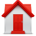 home, red, soda icon