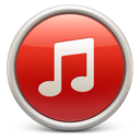 itunes, red, soda icon