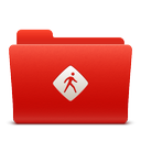 common, folder, new, red, soda icon