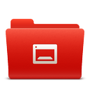 desktop, folder, new, red, soda icon