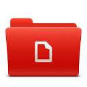 docs, folder, new, red, soda icon