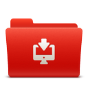downloads, folder, new, red, soda icon