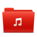 folder, music, new, red, soda icon