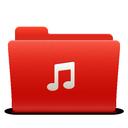 music, folder, new, red, soda icon