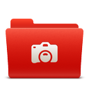 folder, new, photo, red, soda icon