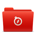 sites, folder, new, red, soda icon