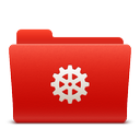 folder, new, red, soda, system icon