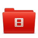 folder, new, red, soda, video icon