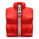 red, soda, zip icon