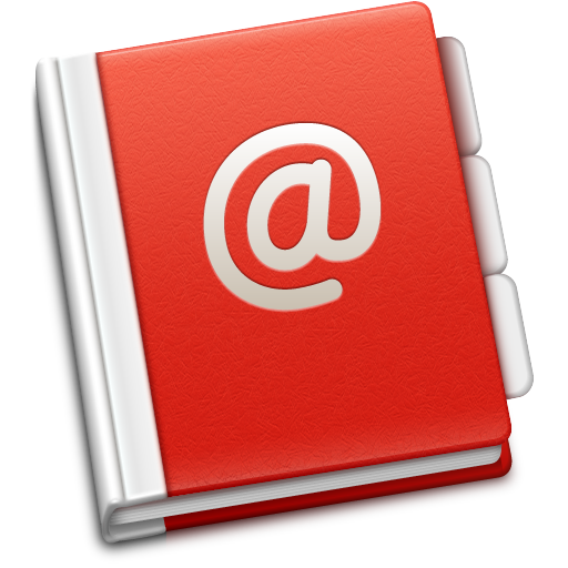 address, book, red, soda icon