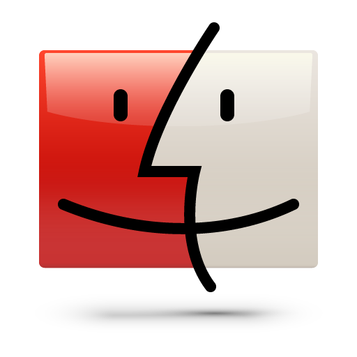 finder, red, soda icon