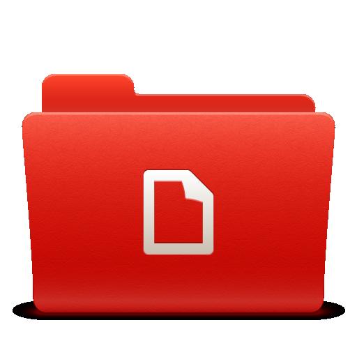docs, folder, new, red, soda icon