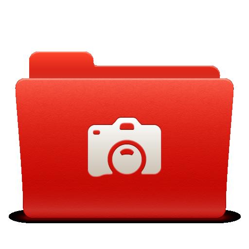 folder, new, photo, red, soda icon