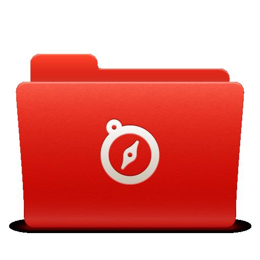 folder, new, red, sites, soda icon