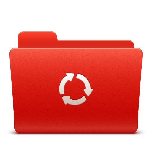 folder, new, red, soda, sync icon