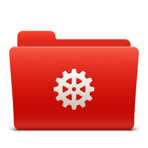 folder, new, red, soda, system icon