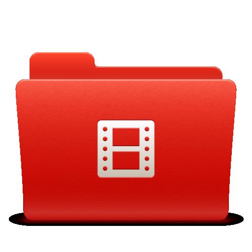 folder, new, red, soda, video icon
