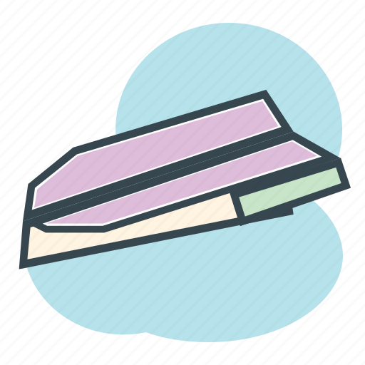 Airplane, avion, children, fly, papel, paper, plane icon - Download on Iconfinder