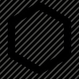 box, hexagon icon