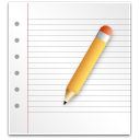 document, edit, paper, write icon