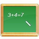 black board, calculate, math, school, tutorial icon