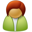 female, user icon