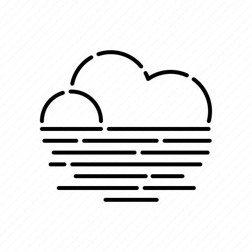 climate, cloud, fog, haze, meteorology, weather icon