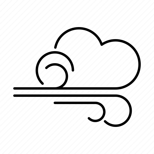 breeze, climate, cloud, meteorology, storm, weather, wind icon