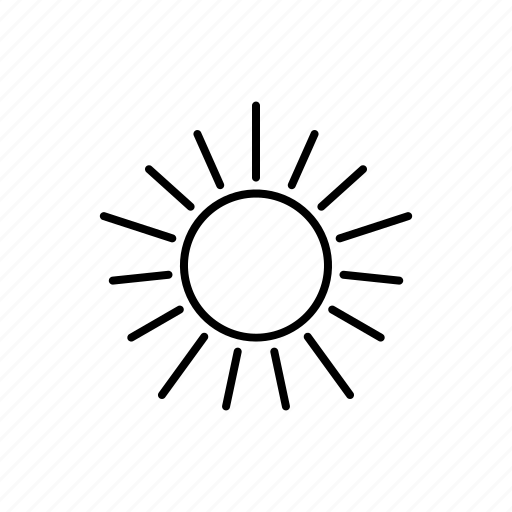 climate, meteorology, summer, sun, sunny, sunshine, weather icon