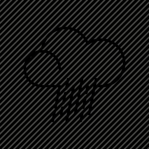 climate, hard rain, meteorology, rain, severe weather, storm, weather icon