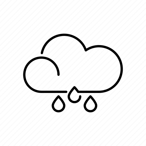 climate, cloud, drizzle, meteorology, rain, raindrop, weather icon