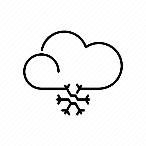 climate, cloud, meteorology, snowfall, snowflake, weather, winter icon