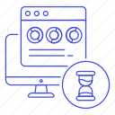 app, control, dashboard, hourglass, mac, pc, performances, software, testing, timer, window, working