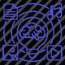 app, brain, bulb, concepts, content, contents, feature, ideas, light, media, resource, software