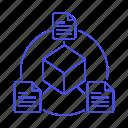 documents, plugin, file, document, metadata, module, coding, cube icon