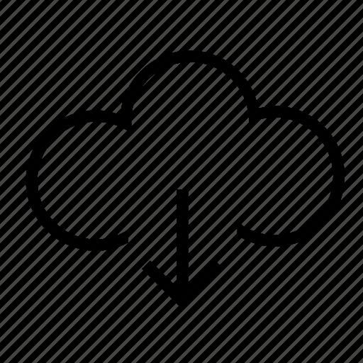 cloud, download, network, storage icon