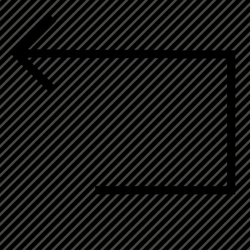 back, cancel, exit, remove, undo icon