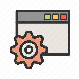browser, configuration, internet, page, technology, web, website icon