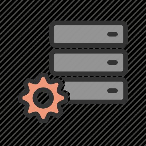 configuration, database, hosting, internet, settings, web, website icon