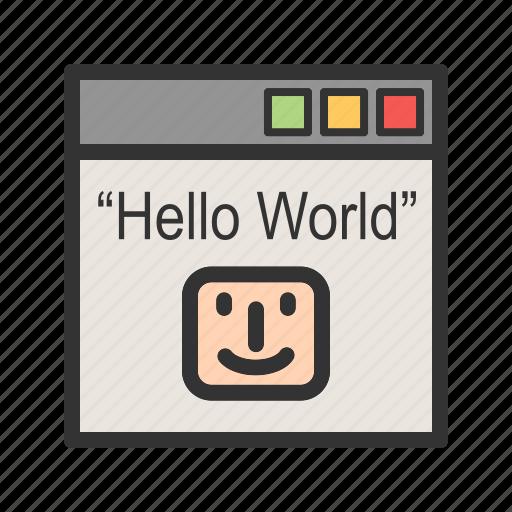 binary, computer, digital, language, numbers, program, text icon