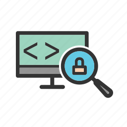code, computer, data, insecure, protect, technology, virus icon