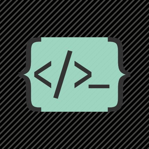 application, code, development, html, programming, software, website icon