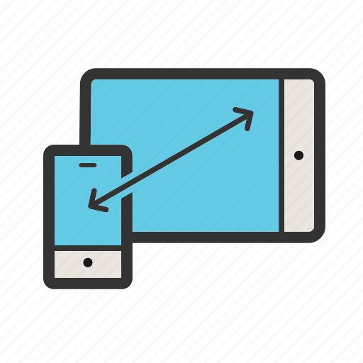 mobile, mockup, phone, responsive, set, tablet, website icon