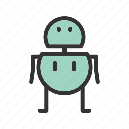 automatic, future, robot, robotic, software, technology icon