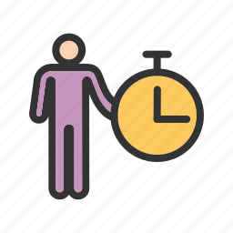 business, idea, manage, management, organization, time icon