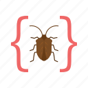 bug, development, error, programming, software, testing, website icon