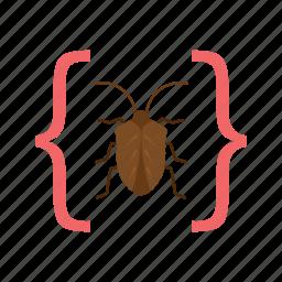 bug, development, error, programming, software, testing, website icon