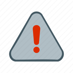 alert, danger, exclamation, red, sign, warning icon