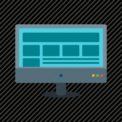 computer, display, imac, image, layout, monitor, screen icon