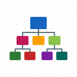 chain, connected, flow chart, hierarchy, site map, team work icon